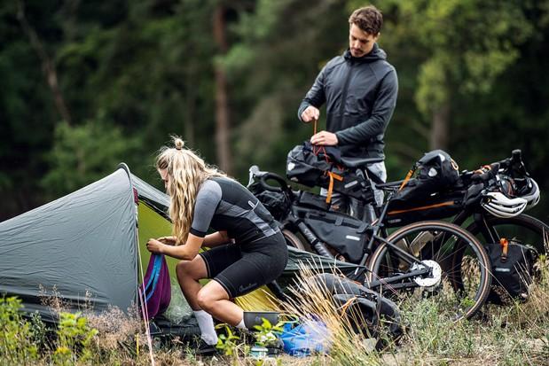 Ortlieb bikepacking bags, tent