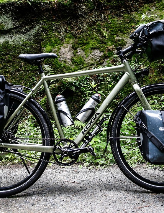 Ortlieb touring bike with pannier rack and bags