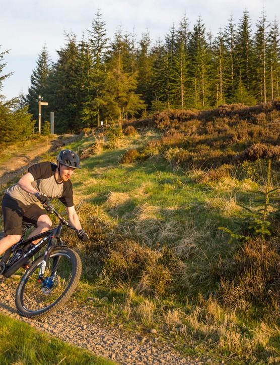 Professional mountain biker Ruaridh Cunningham at 7stanes, Innerleithen