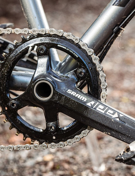 The Vitus Substance SRS 1 gravel bike is equipped with a SRAM's 1x Apex groupset