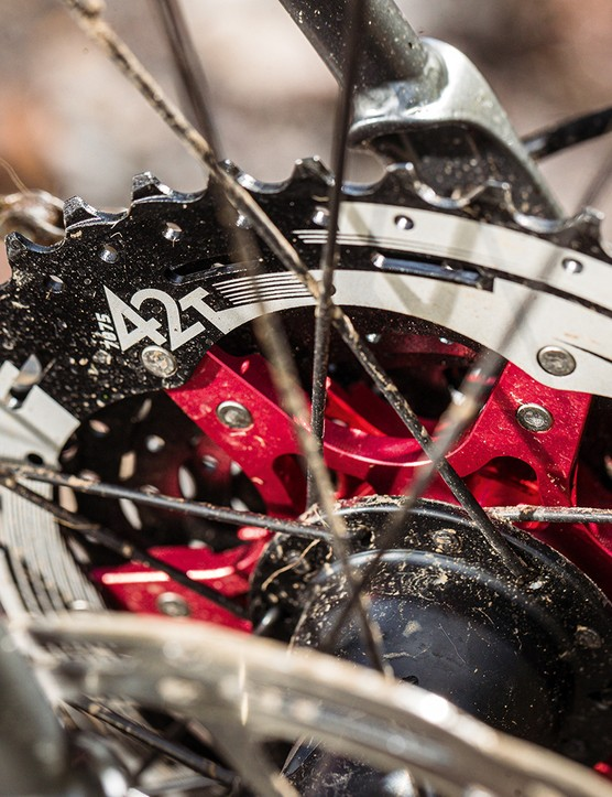 SunRace's cassette and SRAM Apex disc brakes on the Vitus Substance SRS 1 gravel bike
