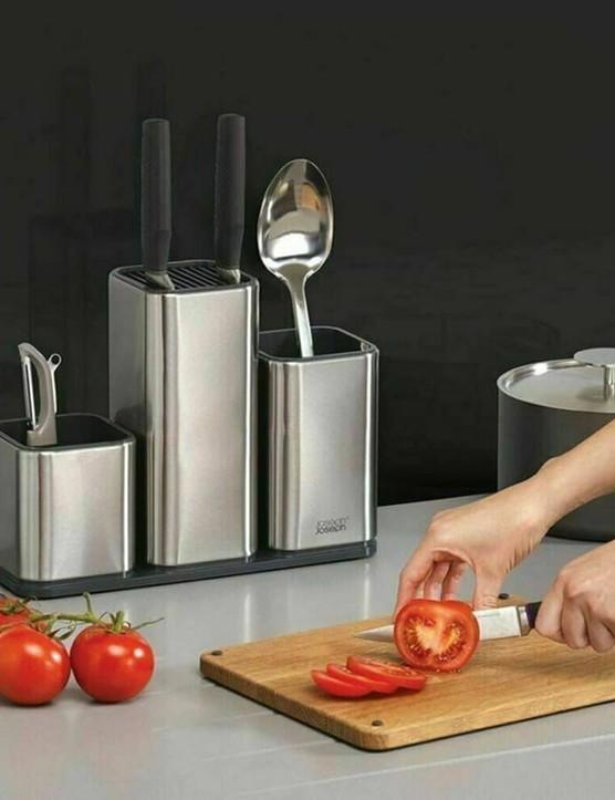 Joseph Joseph CounterStore™ 100 Worktop Organiser + DrawerStore™ Cutlery & Knife Organiser Set, Bundle of 2