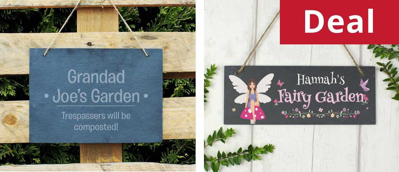 Personalised Wooden Dibber + Garden Sign