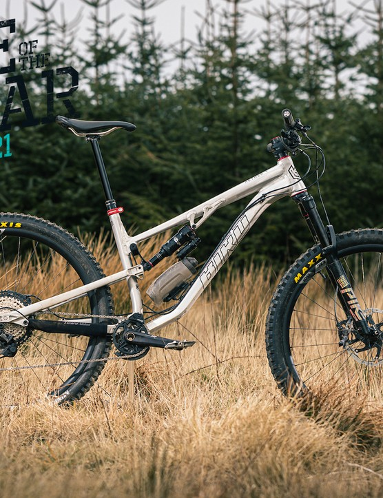 Pack shot of the Bird Aether 9 full suspension mountain bike