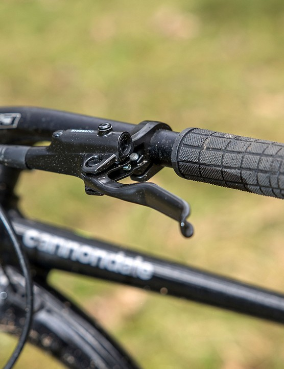 Cannondale Trail SE4 hardtail mountain bike has Cannondale grips