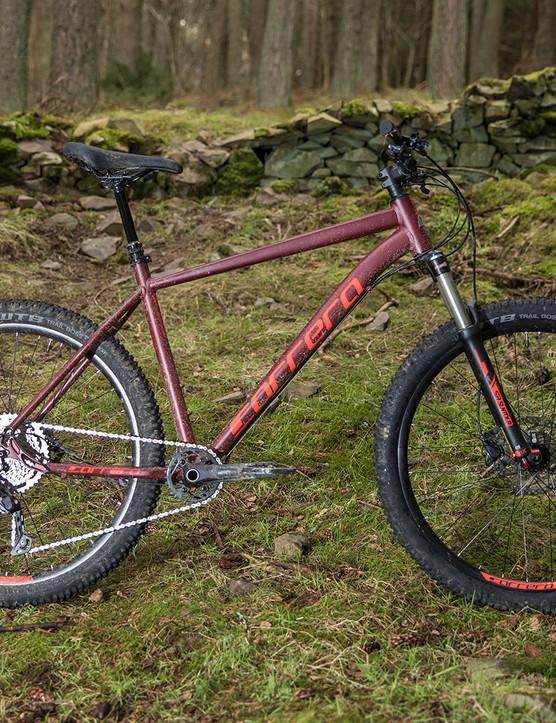 Pack shot of the Carrera Fury hardtail mountain bike