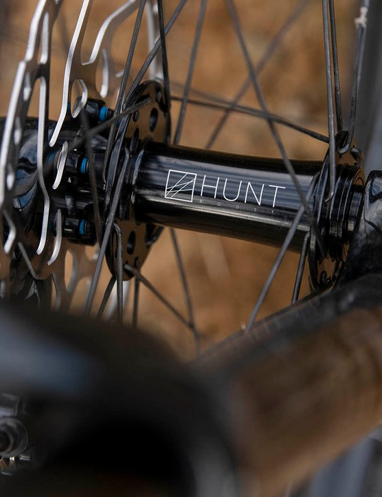 The Cotic RocketMAX Gen3 Silver SLX full suspension mountain bike wheels can be upgraded to Hunt Trail during purchase process