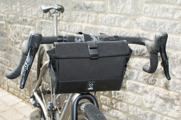 Bar bag on bike