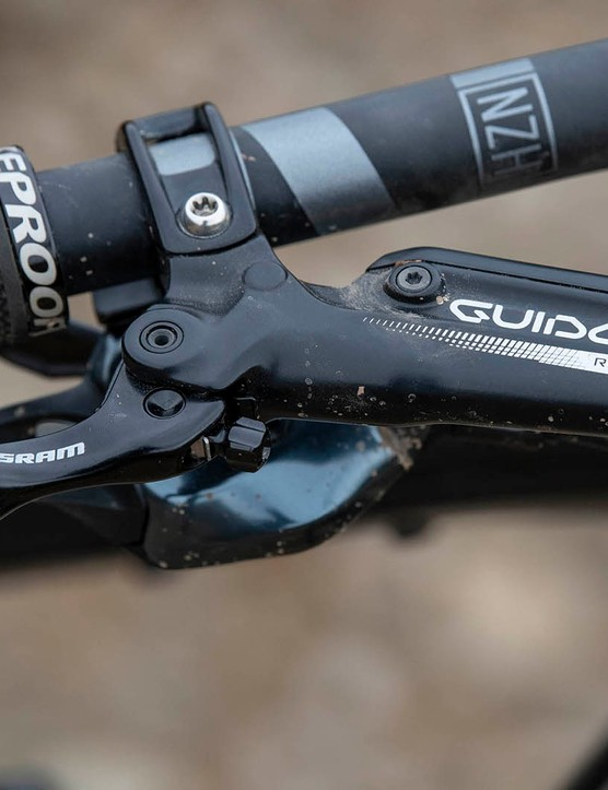 SRAM Guide RE brakes on the Nukeproof Mega 290 Alloy Pro full suspension mountain bike