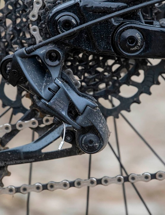 SRAM GX Eagle mechs on the Nukeproof Mega 290 Alloy Pro full suspension mountain bike