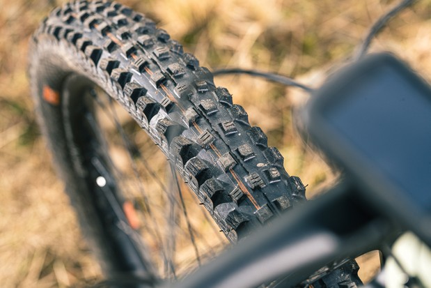 Schwalbe's Addix Soft Magic Mary offers buckets of grip at the front.