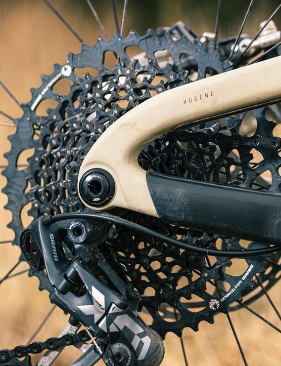 SRAM X01 cassette on the Propain Hugene Custom full suspension mountain bike