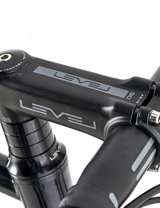 Level 1 alloy stem on the Ribble Endurance 725 Disc – Base road bike
