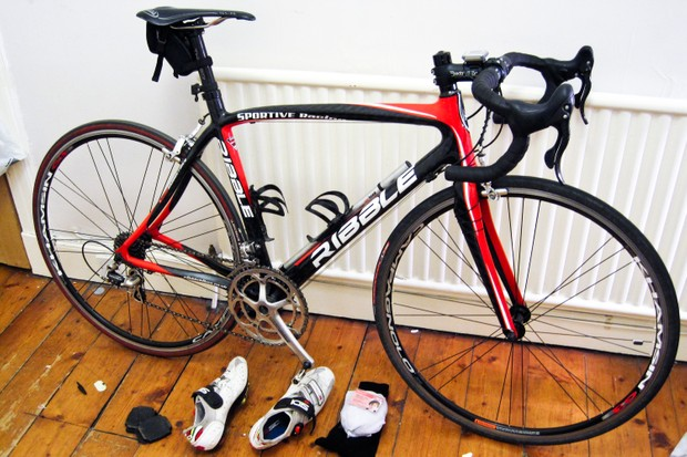 Ribble Carbon Sportive leaning against radiator