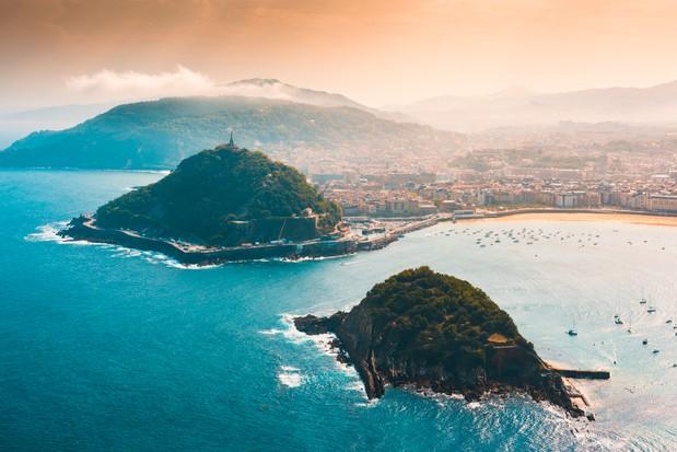 San Sebastian and Santa Clara Island at sunsetMarco Bottigelli
