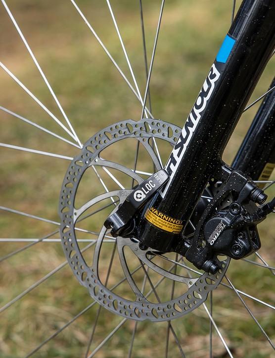 The Tektro brakes lacked bite and power.