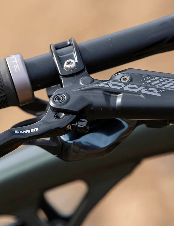 SRAM's Code R brakes on the Whyte G-180 RS 29 V1 full suspension mountain bike