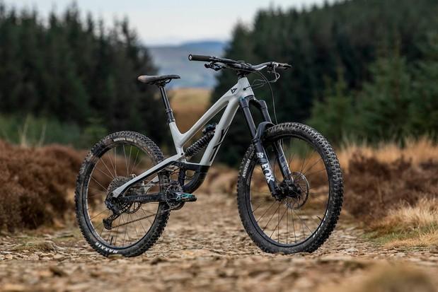 Pack shot of the YT Capra Shred 27.5 full suspension mountain bike