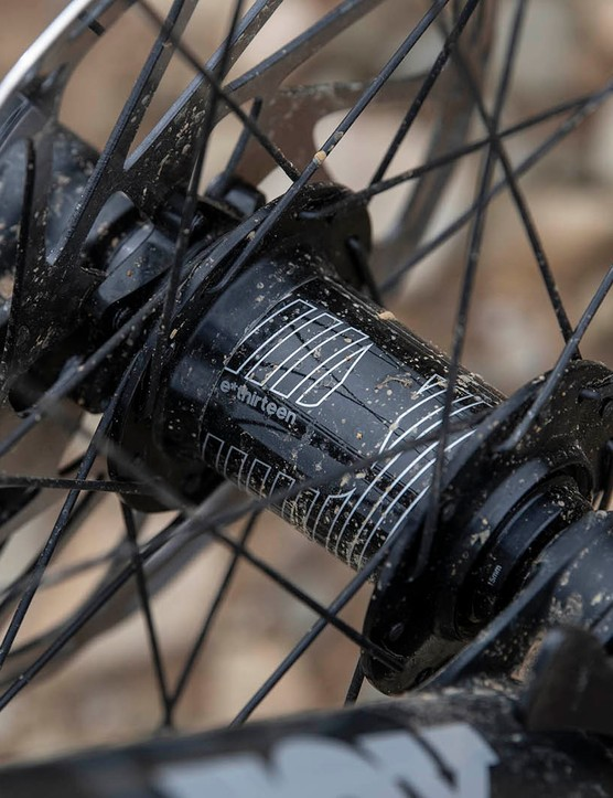 E*thirteen LG1 Enduro wheels aren't particularly common but we've no complaints about their performance.
