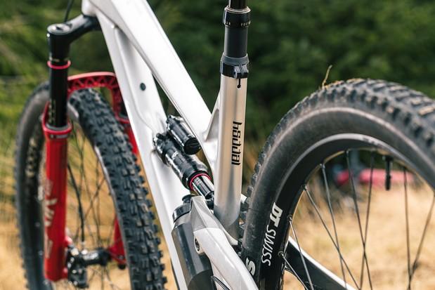 Rear view of the YT Jeffsy Blaze full suspension mountain bike