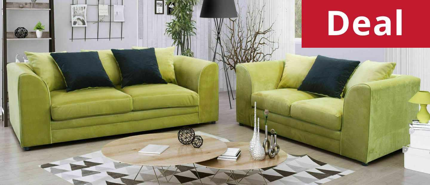 Mylon Plush Velvet 3 Plus 2 Seater Sofa Set