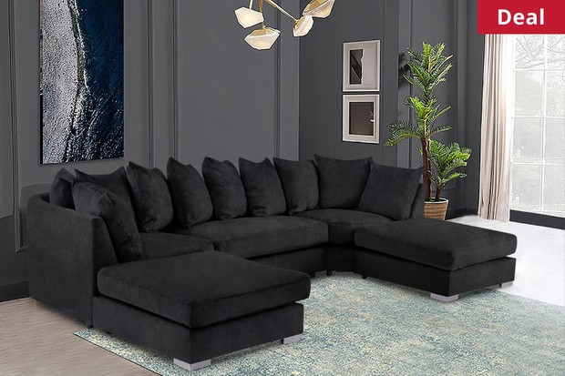 Grab £99 off a Brixton U-Shape Sofa!