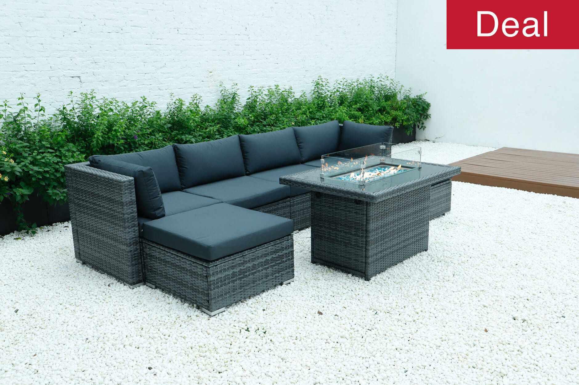 Luxor Rattan modular sofa set wicker garden furniture
