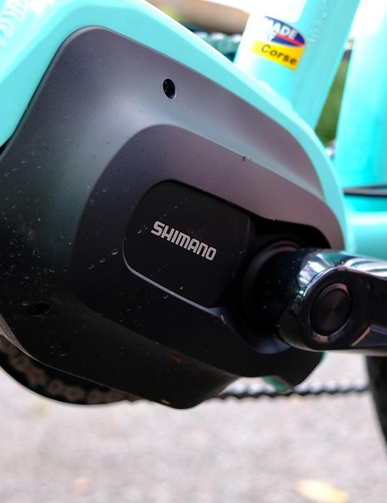 Shimano Steps E5000 motor on the Bianchi E-Spillo Luxury eBike