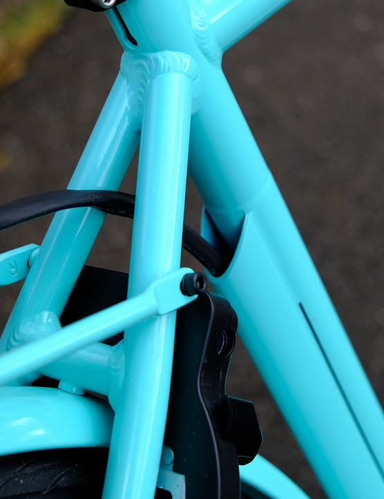 Battery cabling on the Bianchi E-Spillo Luxury eBike