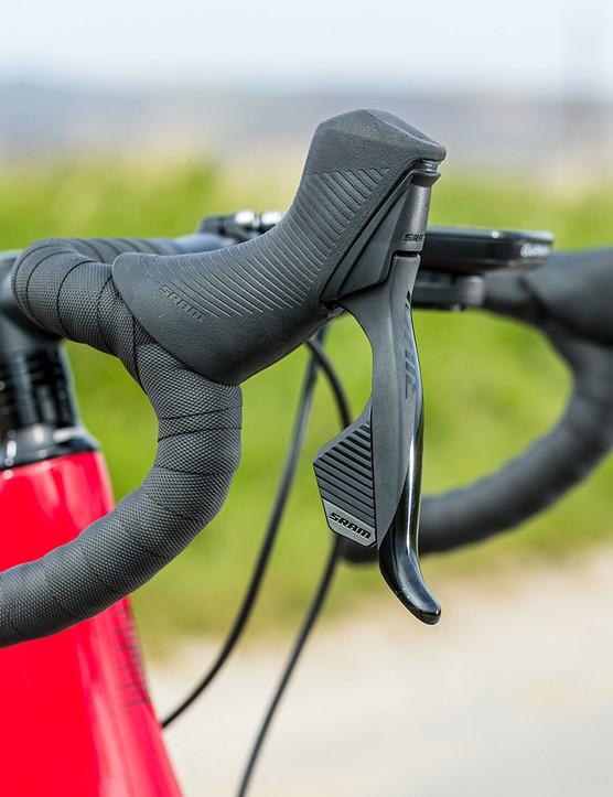 Boardman Elite alloy bar and stem on the Boardman SLR 9.4 AXS Disc Carbon road bike