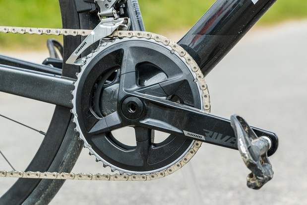 SRAM's Rival chainset on the Boardman SLR 9.4 AXS Disc Carbon road bike
