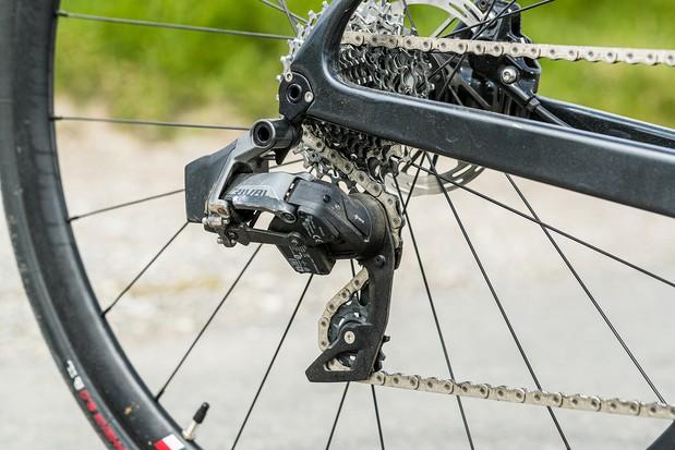 Rival AXS gears on the Boardman SLR 9.4 AXS Disc Carbon road bike