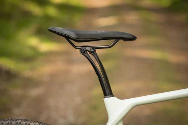 The clever leaf spring VCLS seatpost is remarkably effective.