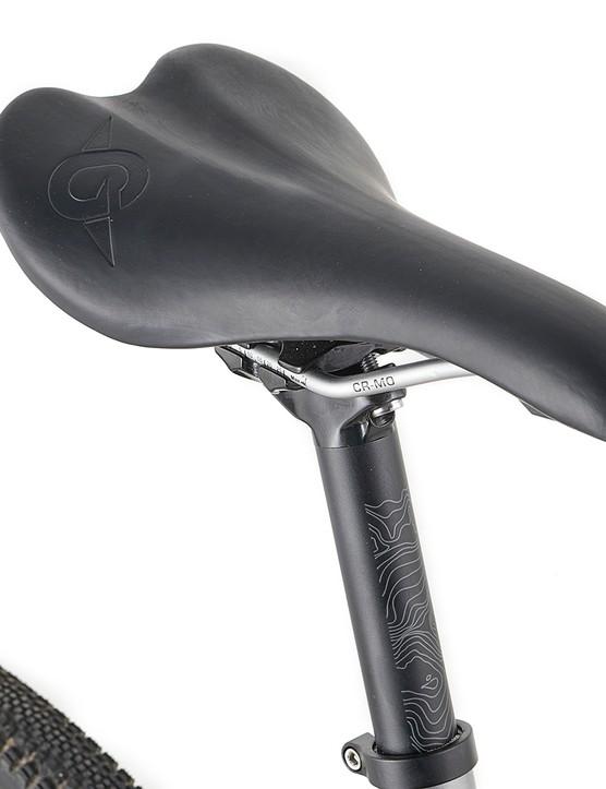 Genesis branded saddle and post on the Genesis CDA road bike