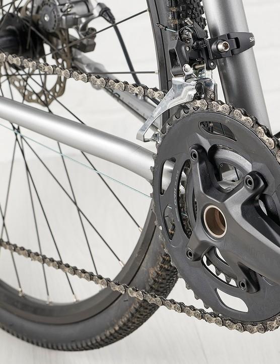 Shimano drivetrain on the Genesis CDA road bike