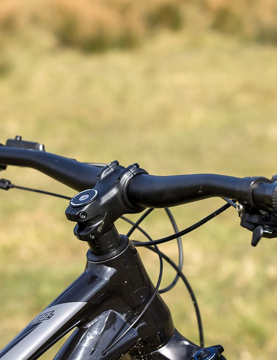 Merida cockpit on the Merida Big.Trail 500 hardtail mountain bike