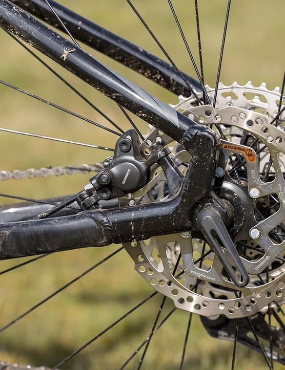 Tektro M275, 180mm rotors on the Merida Big.Trail 500 hardtail mountain bike