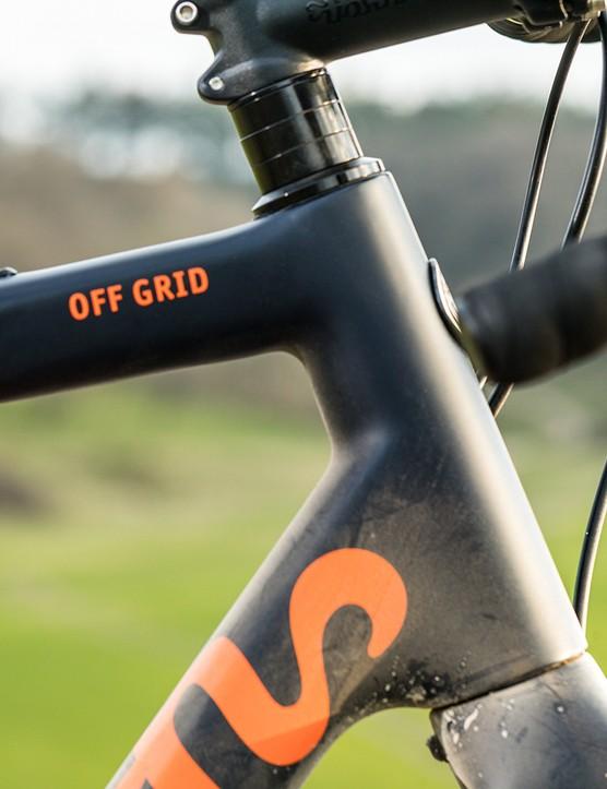Headtube of the Pearson Off Grid gravel bike