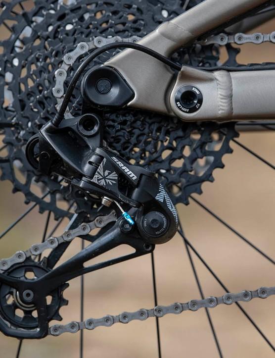 SRAM NX Eagle drivetrain on the Scott Ransom 920 full suspension mountain bike