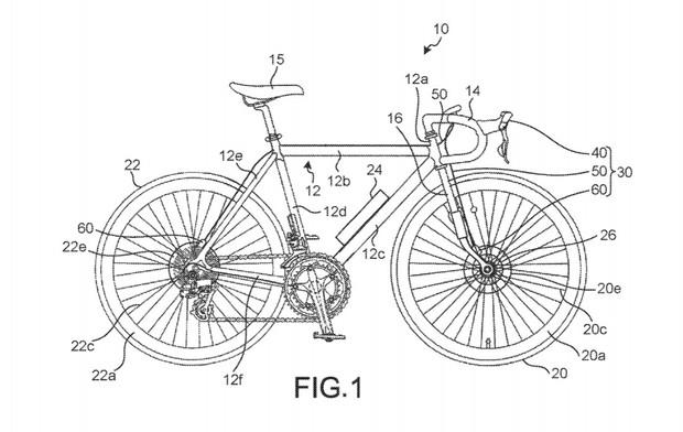 Schematic of Shimano electronic brake bike