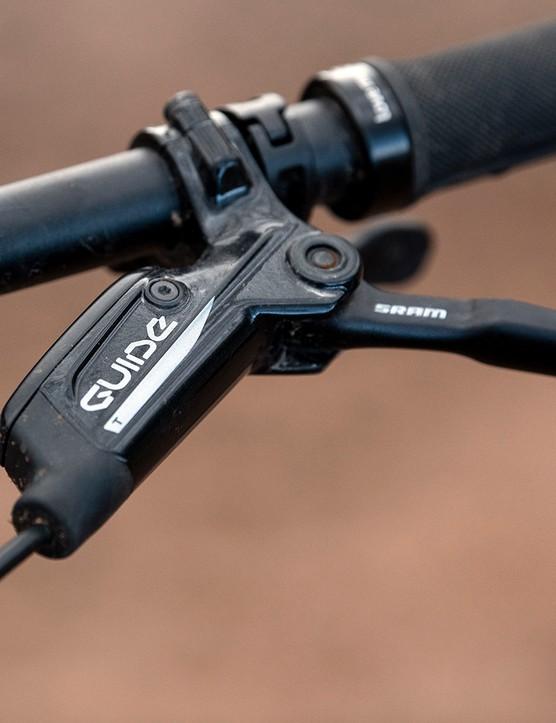 SRAM Guide T brakes on the Sonder Signal ST NX hardtail mountain bike