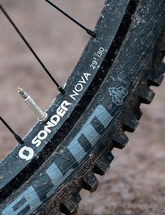 Sonder Nova 29 wheels on the Sonder Signal ST NX hardtail mountain bike