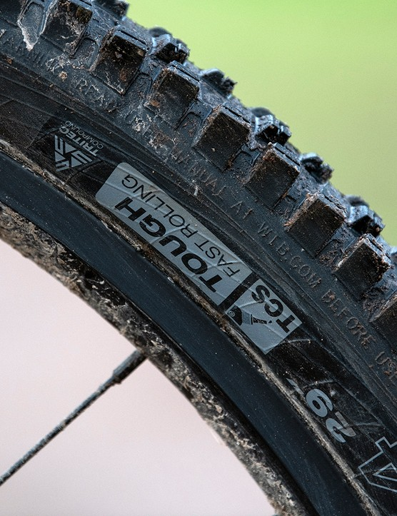 On the Sonder Signal ST NX hardtail mountain bike the tyres have WTB's Tough Fast Rolling casing