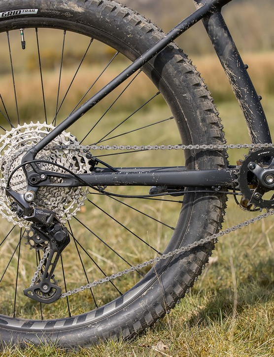 Shimano Deore drivetrain on the Specialized Fuse 275 hardtail mountain bike