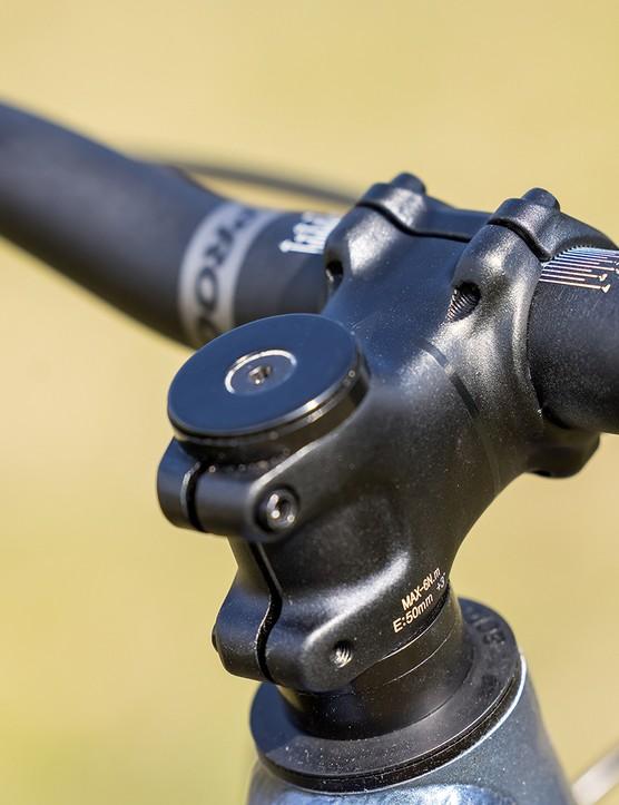 Vitus, 50mm stem on the Vitus Sentier 27 hardtail mountain bike