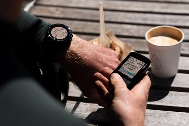 Wahoo Elemnt Bolt V2 computer and Elemnt Rival smartwatch
