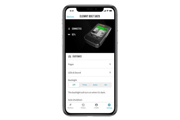 Wahoo Elemnt app