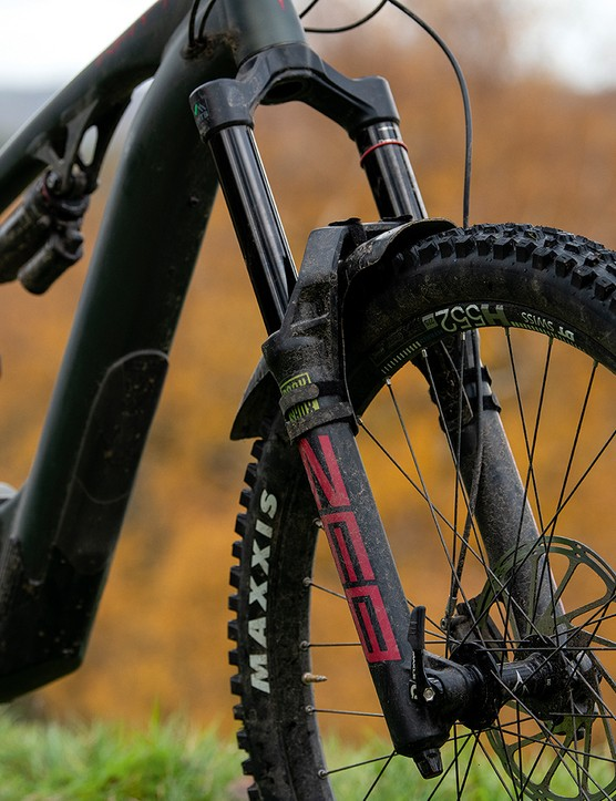 RockShox ZEB fork on the full suspension electric mountain bike