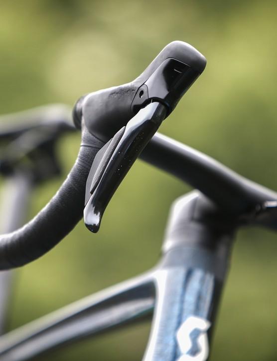 Hamoir - Belgium - wielrennen - cycling - cyclisme - radsport - new Shimano 9200 group on the Scott Addict RC of Joris Nieuwenhuis (Netherlands / Team DSM) pictured during Baloise Belgium Tour (2.Pro) stage 3 from Hamoir to Hamoir (152,7KM) - photo Dion Kerckhoffs/Cor Vos © 2021