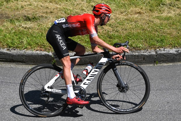 DUILHAC-SOUS-PEYREPERTUSE, FRANCE - JUNE 13: Romain Hardy of France and Team Arkéa - Samsic during the 45th La Route d'Occitanie - La Depeche Du Midi 2021, Stage 4 a 151,2km stage from Lavelanet – Pays d'Olmes to Duilhac-sous-Peyrepertuse 648m / #RDO2021 / @RouteOccitanie / on June 13, 2021 in Duilhac-sous-Peyrepertuse, France. (Photo by )